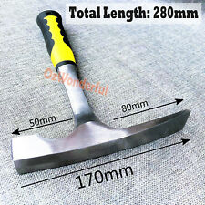 20oz STRIKING FACE BRICKLAYERS Chisel Edge BRICK HAMMER w/ rubber grip handle