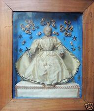 Poupée en cire, Christ enfant, Ex-Voto, Diorama aux décors de Paperoles, XIX
