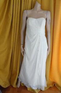 (MAR350) Size 10 *DEBENHAMS DEBUT* Ivory long formal evening dress wedding