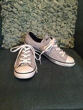 Chuck Taylor Converse All Stars Dainty Canvas Sneaker Black White Spots 10 M New