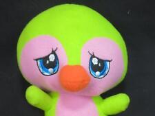 FUNNY BIG HEAD  GREEN PINK SAD BLUE EYES BABY BIRD PLUSH STUFFED SUGARLOAF TOY