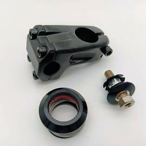 """bikinGreen BMX Bike Stem Set With Top Cap - Hollow Bolt And 1-1/8"""" Headset"""