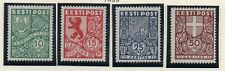 Estonia Sc B40-44 1939 Coats of Arms charity stamp set mint