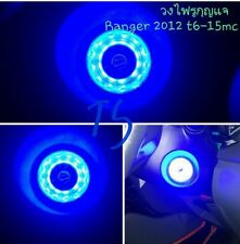 Blue Ring Start Key Remote Led Trim Fits Ford Ranger T6 Mk2 Wildtrak 2012 - 2017