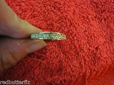 18K G.E. A stamped yellow gold cubic zirconia CZ band ring size 8