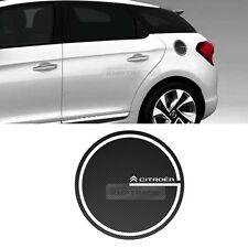 Fuel Tank Cap Cover Carbon Black Decal Sticker for Citroen 2013 2014 2015 DS5