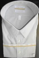 Roundtree Yorke Gold Label Dress Shirt * Gray Striped * Size 18 - 36/37 Tall