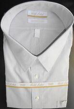Roundtree Yorke Gold Label Dress Shirt * Gray Striped * Size 19 - 36/37 Big