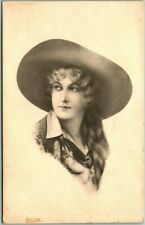 COWGIRL / Western Postcard Woman Cowboy Hat & Short Schlesinger Bros. Dated 1913