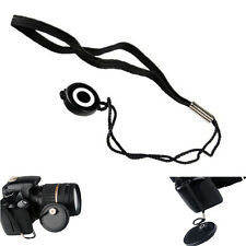 2Pcs Lens Cover Cap Holder Keeper String Leash Strap Rope For Canon Nikon Camera