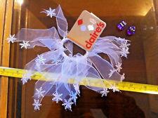 Christmas Xmas Festive White Snow Flake Bracelet Claires Claire's