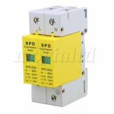 Surge Protection Over Voltage Lightning Arrester SPD White+Yellow