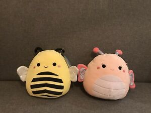 """Soft Toys Bundle Squishmallows Gift Set -  Butterfly & Bumblebee 7.5"""" Plush 🐝"""