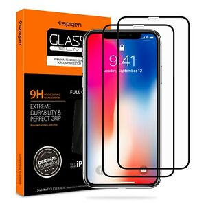 Spigen® iPhone 11 Pro / Xs / X  GLASS Screen Protector [Glas.tR SLIM] [2PACK]