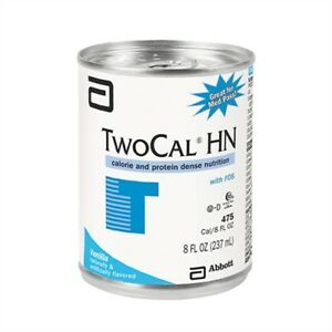 CASE/24! TwoCal HN 00729 Oral Supplement Nutrition 8 oz Can Vanilla