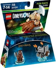 *NEW* Lego Dimensions LORD OF THE RINGS Gimli & Axe Chariot Fun Pack 71220