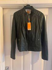 Hugo Boss Orange Womens Black Leather Jacket