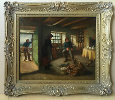 Jonathan Pratt (1835-1911) oil painting on canvas signed dated 1895