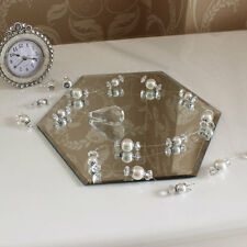 Vanity Tray Mirrored Wedding Table Centre Glass Stand Shabby Vintage Chic