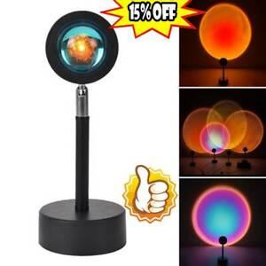 LED Sun Sunset Rainbow Projector Atmosphere Light Lamp USB Home New
