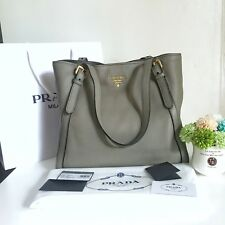 BRANDNEW! Prada 1BG064 Vitello Phenix leather Tote Shoulder Bag LARGE AUTHENTIC