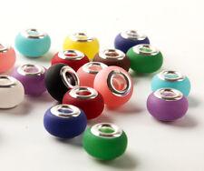 MIX 50pcs alloy murano big hole Beads fit European charm Bracelet DIY beaded A9