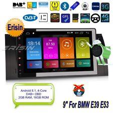 "Android 8.1 BMW E39 Autoradio E53 5er X5 M5 TNT DAB+GPS OBD Navi 4G Wifi 9""2893F"