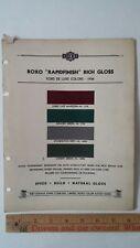 1936 FORD De Luxe - Original Exterior Color Chips - Paint Color Samples