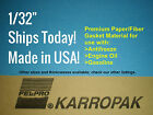 1/32 6x9 Paper Fiber Gasket Material Fel-Pro Engine Car Truck Carburetor Gas Oil