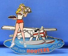 HOOTERS GIRL WATER PROP PLANE AIRPLANE LAKE UNION SEATTLE WASHINGTON WA PIN