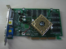 Gigabyte nVidia GeForce FX5500 AGP 128MB DDR VGA/DVI/TV-Out Video card TEST OK!