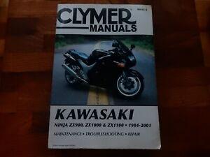 Clymer workshop  manual Kawasaki Ninja ZX900 ZX1000 ZX1100 1984-2001