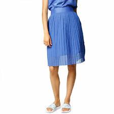 adidas Originals Women's Pleated Chiffon Midi Skirt Summer Blue Ocean Elements