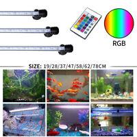 Waterproof RGB Multicolor Aquarium Submersible Light Fish Tank Amphibious Lamp