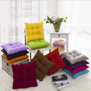 NEW COLOURFUL SEAT PAD DINING ROOM GARDEN KITCHEN CHAIR CUSHIONS -TIE ON