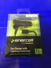 Enercell by Radioshack CAR CHARGER WITH LIGHTNING CONNECTOR  2730753 NEW  Black