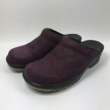 Sanita Womens Open Back Clog Purple Embossed Leather Sz EUR 36 A US 5.5-6 Narrow