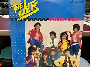 """THE JETS PRIVATE NUMBER 12"""" 1986  MCA 23637"""
