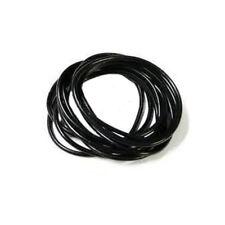 Paquet de 12 Noir Gummy CAOUTCHOUC BRACELET BRACELETS BANDES GEL bracelets