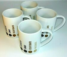Balvi Coffee Type Chart White Porcelain Barista Expresso 100ml Cup Mug Set of 4