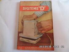 SYSTEME D N°118 10/1955 GUITARE ELECTRIQUE AUTO TELECOMMANDEE CATAMARAN    J62