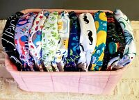 10 Alvababy All In One Size Adjustable Snap Cloth Diapers Fits NB-potty Training