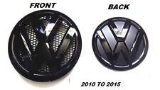 VW TRANSPORTER T5 T5-1 GLOSS BLACK FRONT & REAR BADGE SET 2010-2015 .