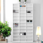 CD/DVD Shelf Rack Media Book Storage Stand Cupboard Shelves Bluray White