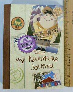 Disney Up My Adventure Journal Spiral Notebook with Stickers NEW