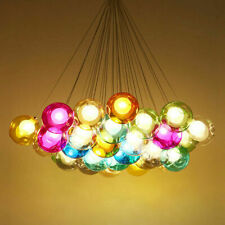 Modern LED Ceiling Lamp Glass Globe Bubble Pendant Light Dining Chandelier Light