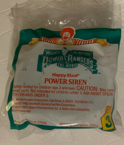Vintage 90's McDonald's Happy Meal Toy Power Rangers The Movie Power Siren New