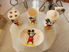 Disney Mickey Mouse Liquid Soap Dispenser, Soap Dish, Tooth Brush Holder, Cup