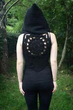 Hooded Crochet Mandala Vest | Pixie Waistcoat | Crochet Boho Festival Vest
