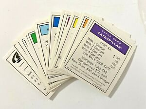 Vintage 1997 NASCAR Edition Monopoly Game Replacement Properties